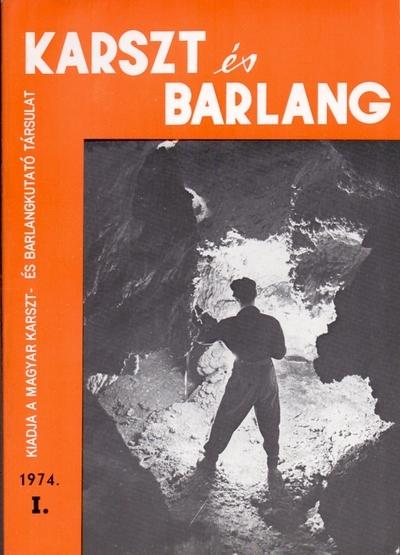 Karszt és barlang 1974. I.