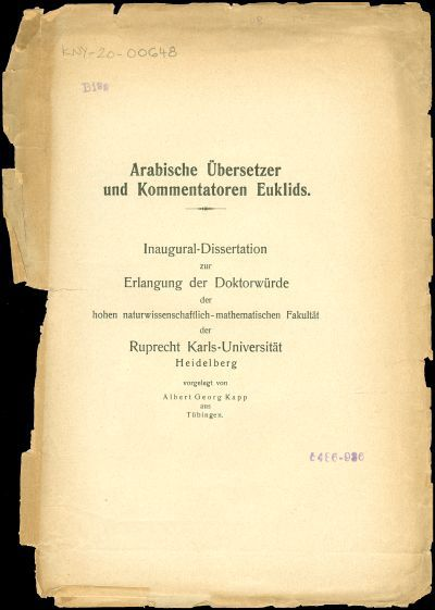 Arabische Übersetzer und Kommentatoren Euklids