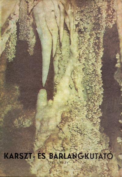 Karszt- és barlangkutató 1961. II.