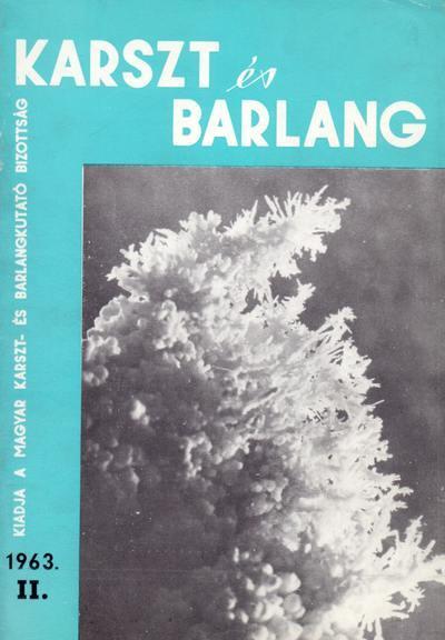 Karszt és barlang 1963. II.