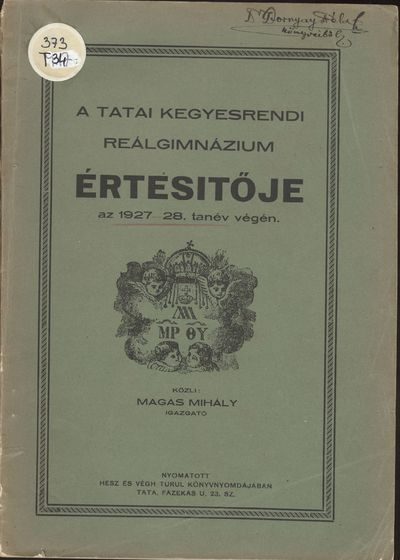 Tatai piarista gimnázium értesítője