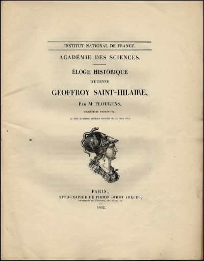 Éloge historique d'Étienne Geoffroy Saint-Hilaire, ...