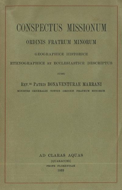 Conspectus missionum Ordinis Fratrum Minorum