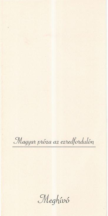Magyar próza az ezredfordulón