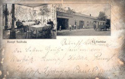Rumpf Szálloda - képeslap, Újverbász,