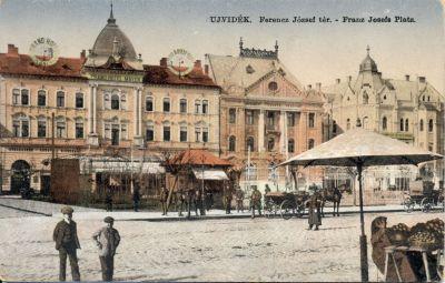 Récsei Nagyszálloda - képeslap, Újvidék,