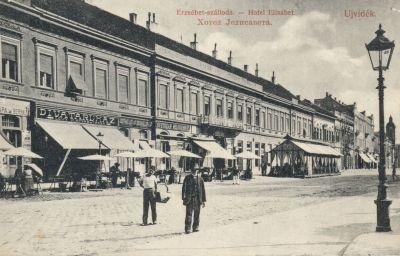 Erzsébet Szálloda - képeslap, Újvidék, 1910