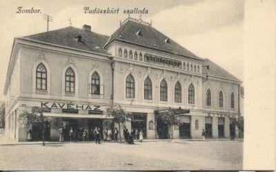 Vadászkürt Szálloda - képeslap, Zombor, 1910-es évek