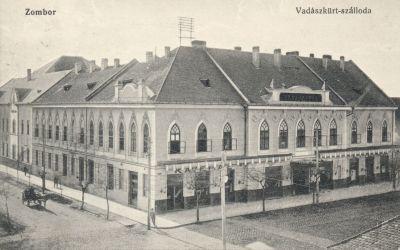 Vadászkürt Szálloda - képeslap, Zombor, 1914