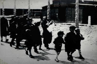 A gázkamrák felé - Auschwitz Album fotó 1944.