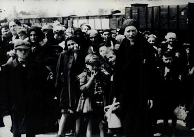Érkezés után - Auschwitz Album fotó 1944.
