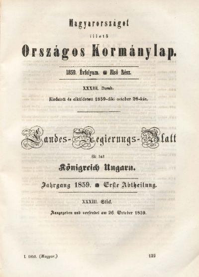 Magyarországot illető Országos Kormánylap