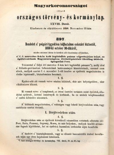 Magyarországot illető országos törvény- és kormánylap