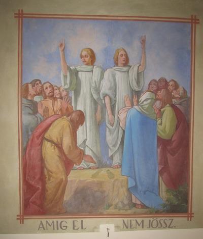 Takács István freskója az egykori mezőkövesdi Jézus Szíve templomban 35