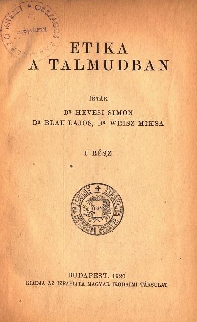 Etika a Talmudban