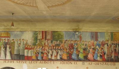 Takács István freskója az egykori mezőkövesdi Jézus Szíve templomban 48