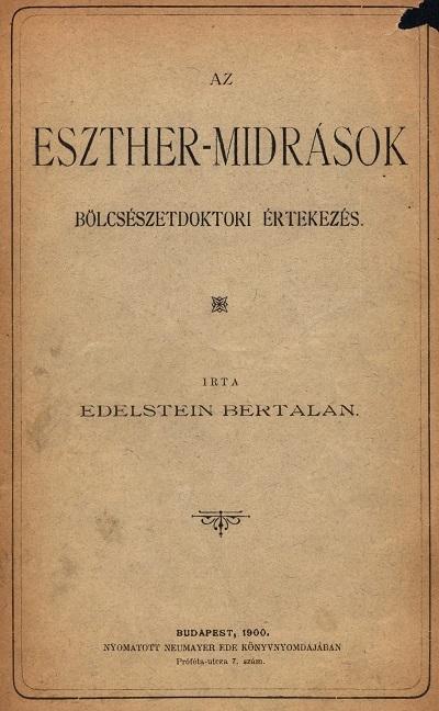 Az Eszther-midrások