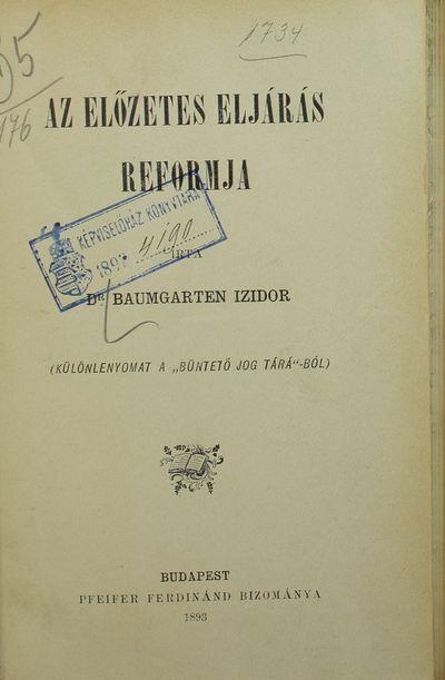 Az előzetes eljárás reformja