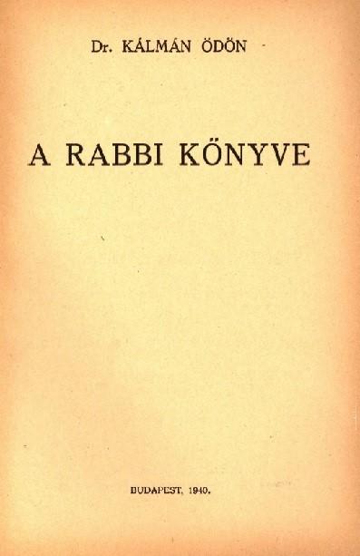 A rabbi könyve