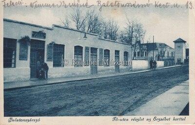 Balatonszárszó, Fő utca részlet az Erzsébet kerttel