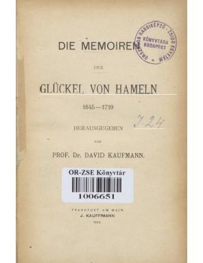 Die memorien Glükel Von Hameln