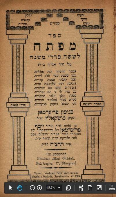 Kulcs a Mishnához (A zsidóság szentírása)