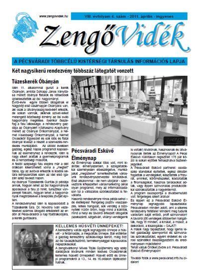 Zengő Vidék 2011 VIII. évfolyam 4. szám