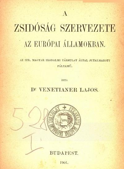 A zsidóság szervezete az európai államokban