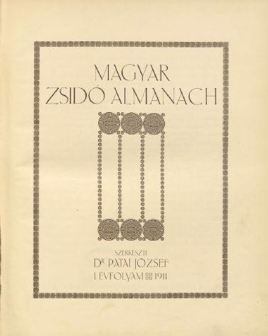 Magyar Zsidó  Almanach