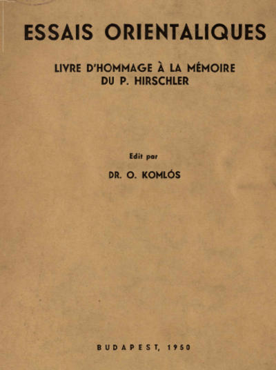 Essais Orientaliques_Keleti Tanulmányok_15979d8c352c8f32