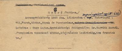 Dunáninneni Egyházkerület. Fejér-Komáromi Egyházmegye