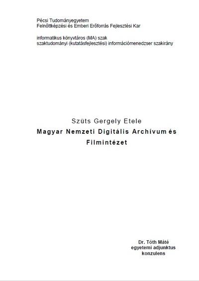 Magyar Nemzeti Digitális Archívum és Filmintézet