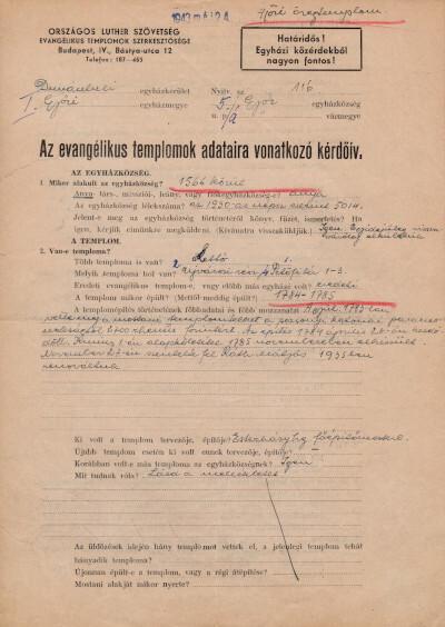 Dunántúli Egyházkerület I. Győri Egyházmegye