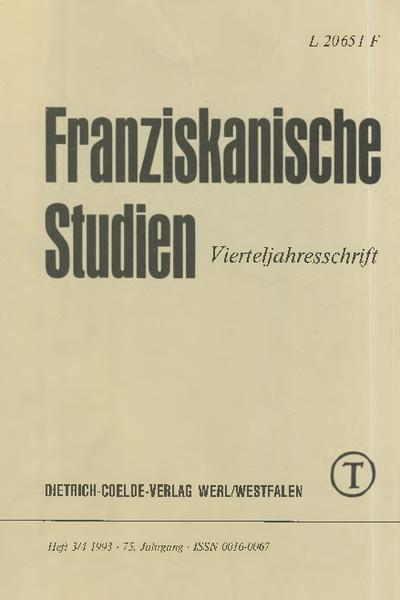 Franziskanische Studien