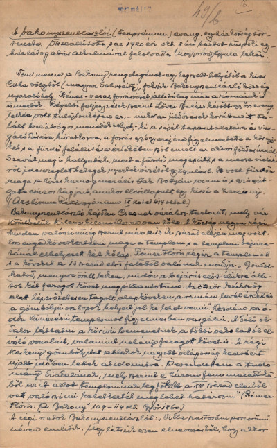 A bakonyszentlászlói evang. egyházközség története