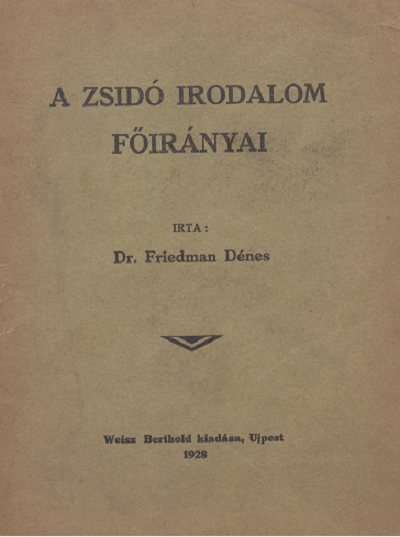 A zsidó irodalom főirányai