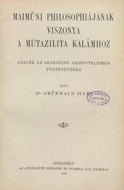 Maimuni philosophiájának viszonya a Mutazilita Kalamhoz