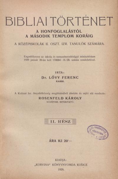 Bibliai Történet II.