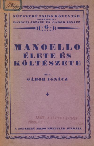 Manoello élete és költészete