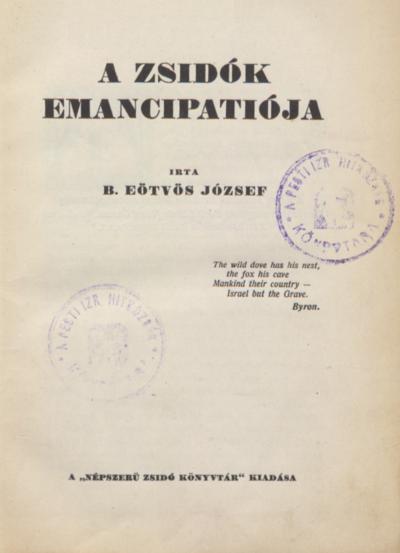 A zsidók emancipátiója