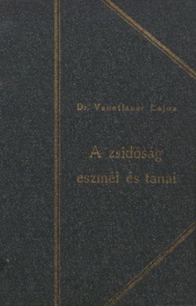 A zsidóság eszméi és tanai, 1926