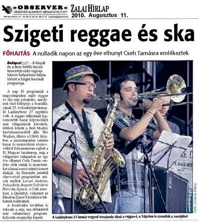 Szigeti reggae és ska