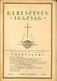 Keresztyén Igazság 1935 (szeptember)