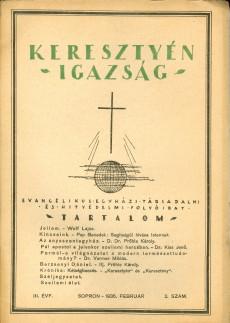 Keresztyén Igazság 1935 (július-augusztus)