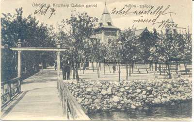 Üdvözlet a Keszthelyi Balaton partról, Hullám-szálloda