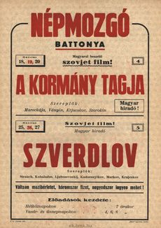 Népmozgó programjai 1949. március 18-27-ig