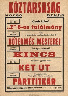 Köztársaság Mozgó programjai 1949. július 15-31-ig