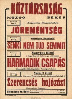 Köztársaság Mozgó programjai 1949. november 1-13-ig