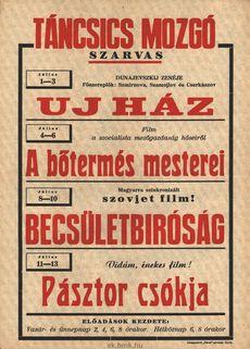 Táncsics Mozgó programjai 1949. július 1-13-ig