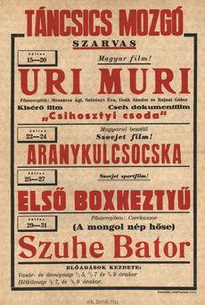 Táncsics Mozgó programjai 1949. július 15-31-ig